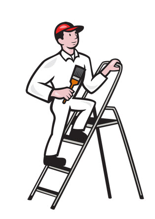 house-painter-standing-on-ladder-cartoon_7J2N6H_L